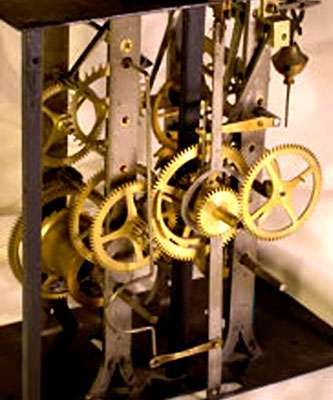 Mécanisme de l'horloge comtoise