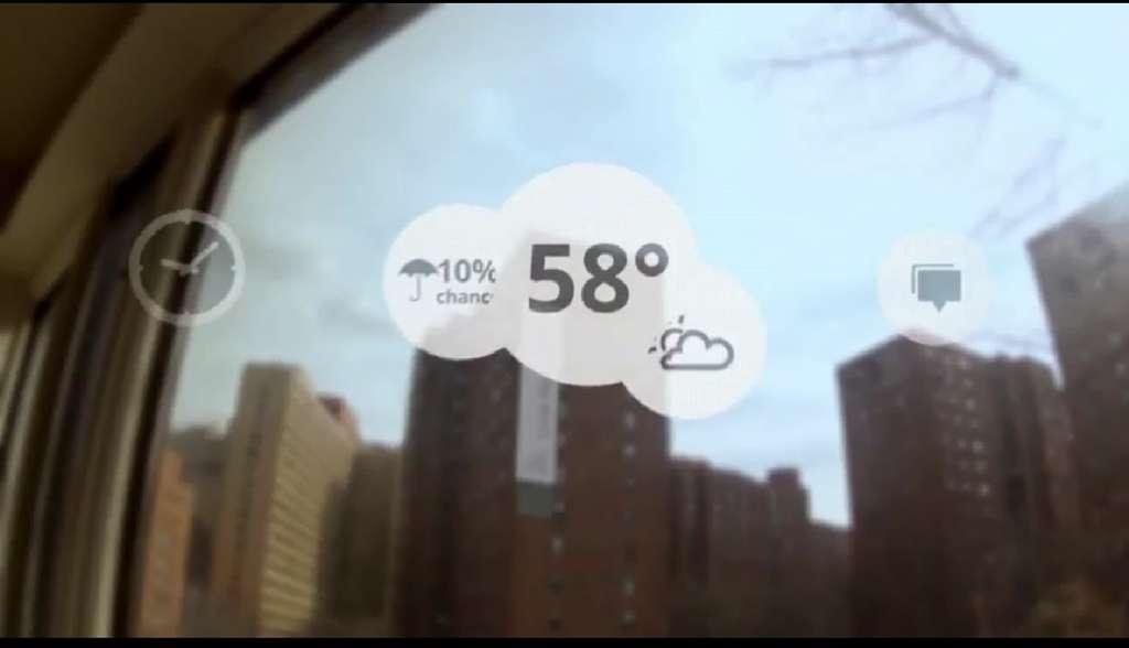 Grâce à la réalité augmentée, les lunettes de Google seraient de véritables assistantes capables de diffuser des informations contextualisées en fonction de ce que regarde leur porteur. © Google Project Glass