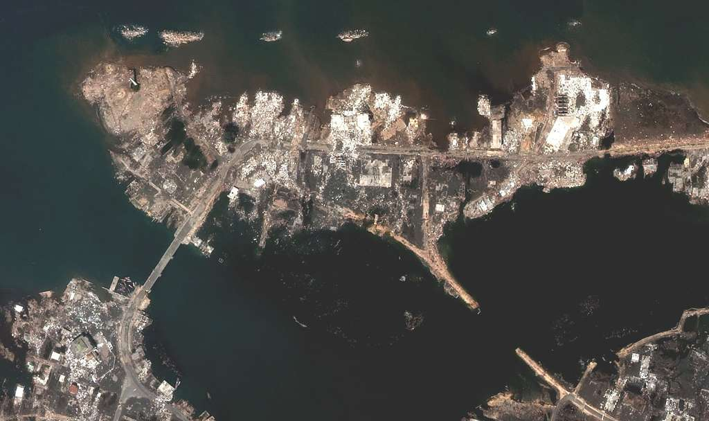 Indonésie : Après - Le port de Banda Aceh
