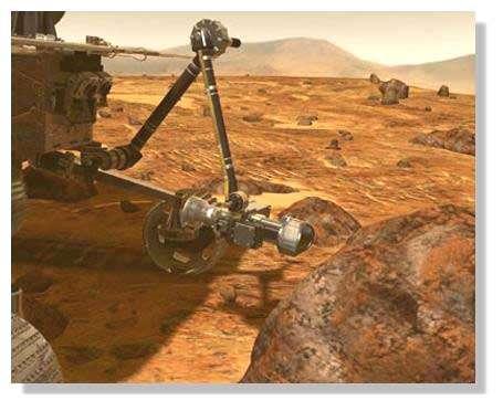 Analyse du sol martien. © Nasa