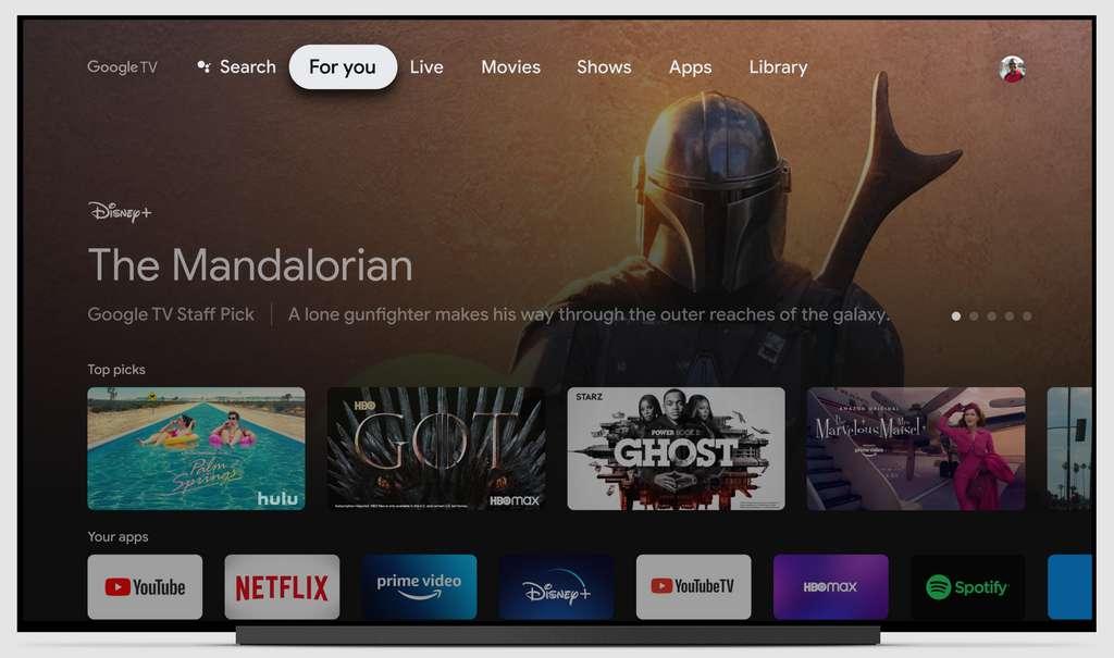 La nouvelle interface de Chromecast permet de facilement naviguer dans ses différents abonnements. © Google