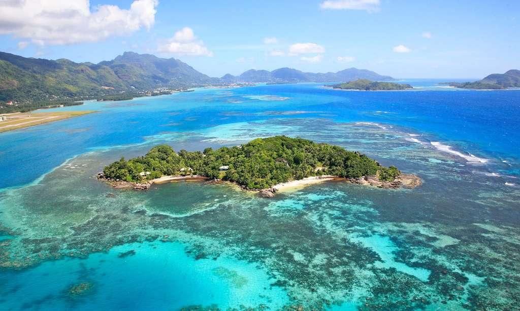 Un îlot tout près de l'île de Mahé, aux Seychelles