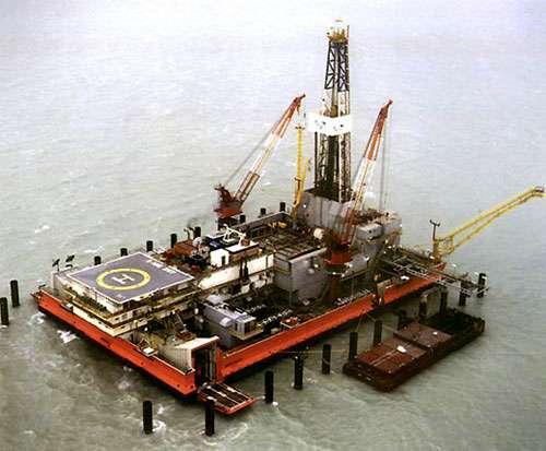Forage offshore, région de Kachagan