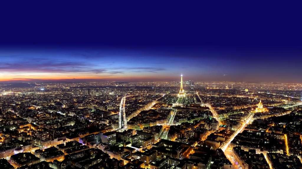 Vue de Paris la nuit