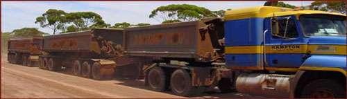 Truck des gold mines, Australie.