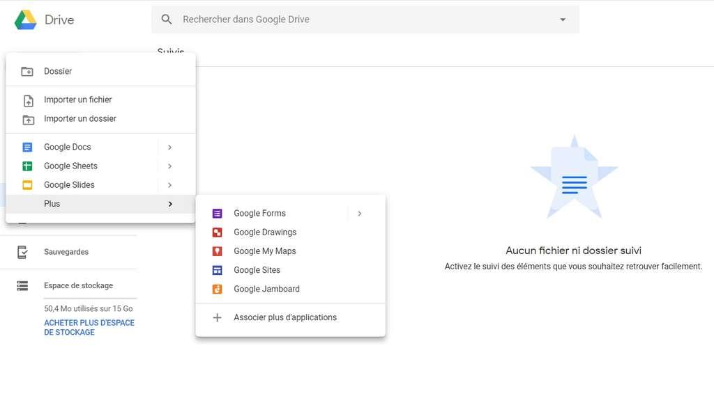 Google Drive offre l'espace de stockage gratuit le plus important actuellement. © Google