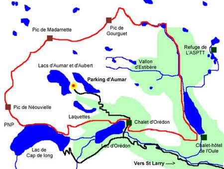 Carte de la réserve