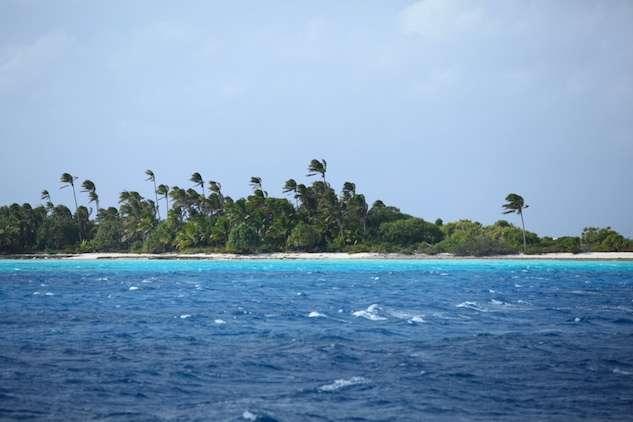 Le lagon des Gambier, en ce début juillet, est bien venté... © Sybille d'Orgeval / Tara Expéditions