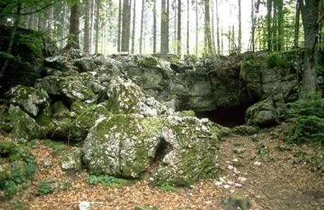 La grotte préhistorique de Prélétang (Presles, Vercors). © DR