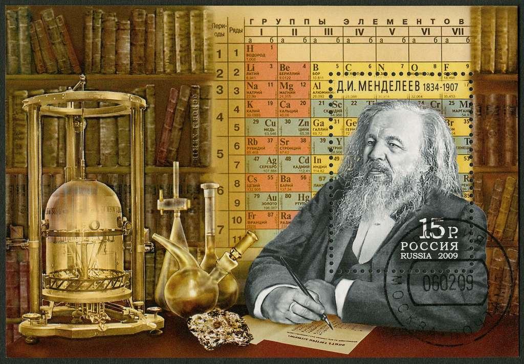 Le chimiste russe Dmitri Mendeleïev est l'inventeur du tableau de la classification périodique des éléments. © Olga Popova, Shutterstock.com