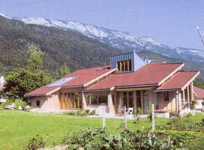 Maison environnementale à ossature bois. © Fermacell