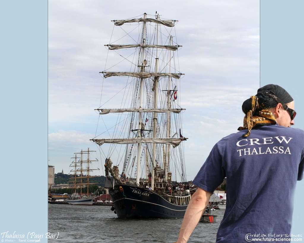 Le Thalassa, un trois-mâts goélette des Pays-Bas