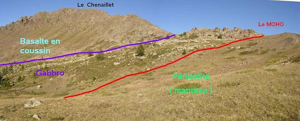 Ophiolite du Chenaillet dans les Alpes. © saphon anthony, CC by-sa 3.0, Wikimedia Commons