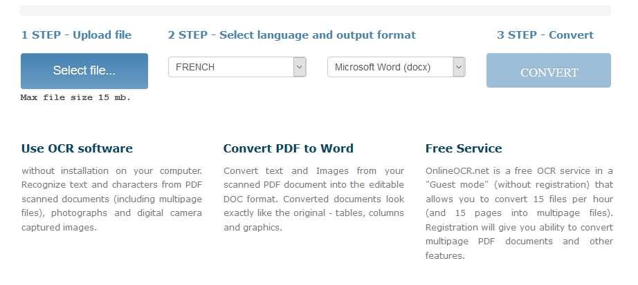 Online OCR garde la mise en page du document original. © Online OCR