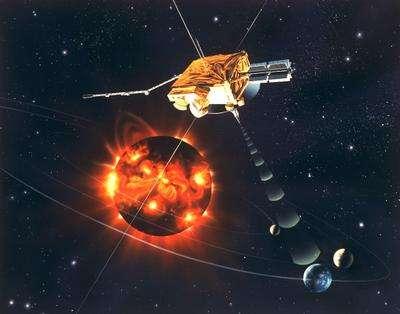 La sonde Ulysse étudiant les pôles du Soleil (Crédit : ESA).