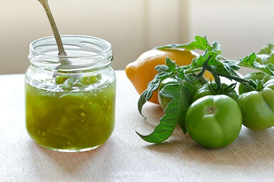 Délicieuse confiture de tomates vertes. © agenturfotografin, Adobe Stock