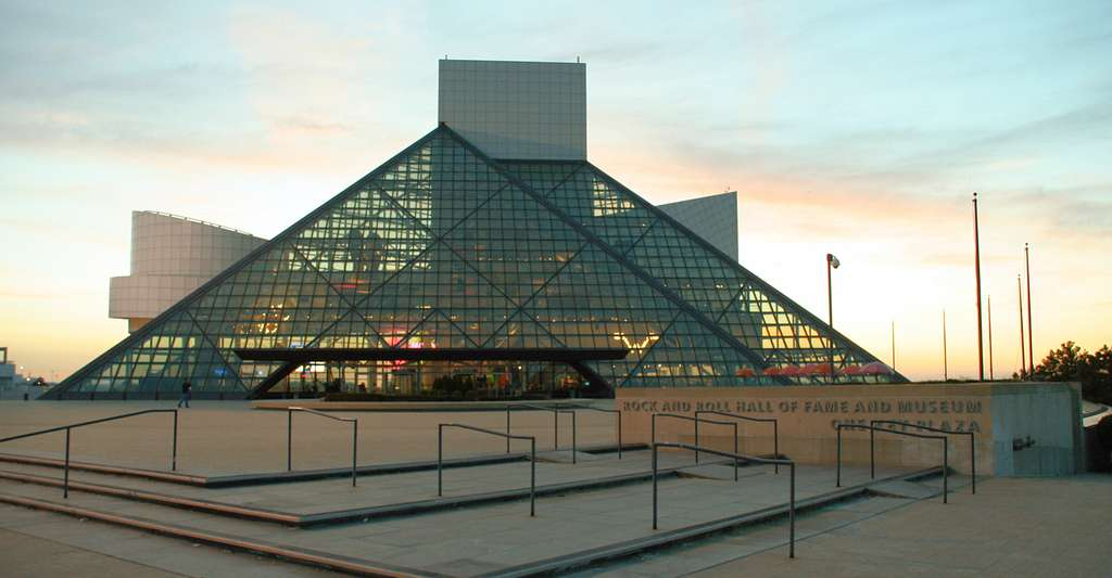 Le Rock and Roll Hall of Fame, à Cleveland, aux États-Unis