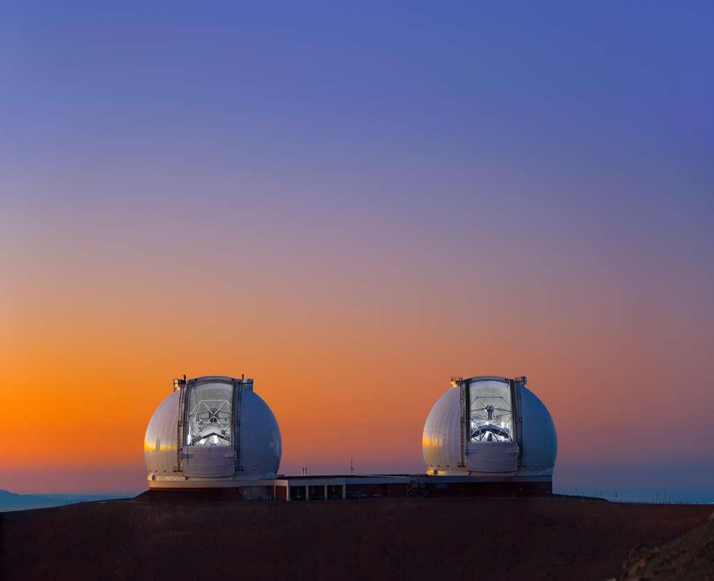 Une vue du WMKO au sommet du Mauna Kea à Hawaï. © W.M. Keck Observatory