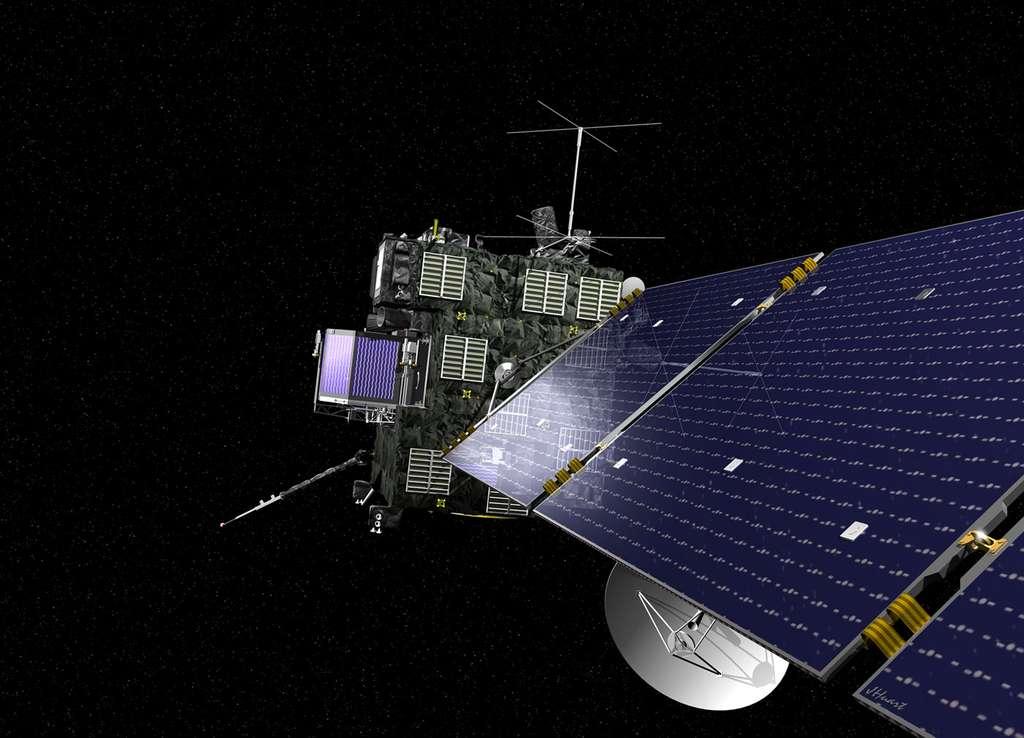 Après l'atterrissage rebondissant de Philae, la sonde Rosetta avec les onze instruments qu'elle embarque entre dans une nouvelle phase de la mission. © Esa, J. Huart