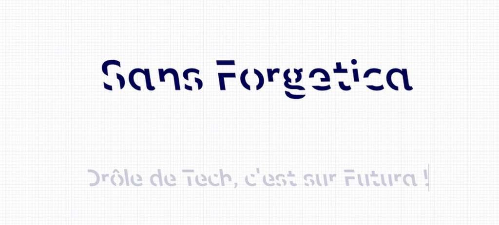 La police de caractères Sans Forgetica est disponible gratuitement en téléchargement. © RMIT