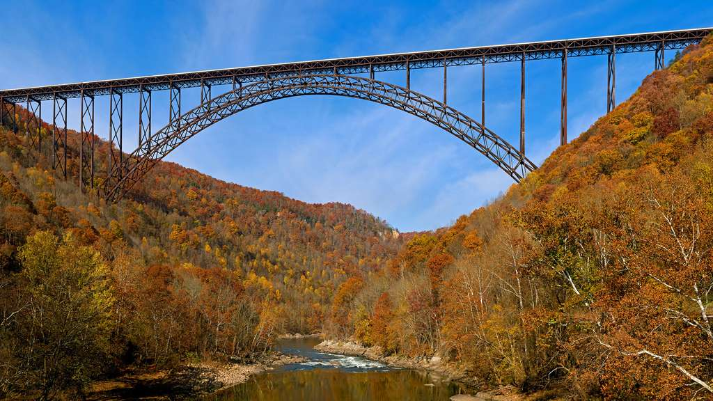 Le New River Gorge Bridge, un des plus longs ponts en arc