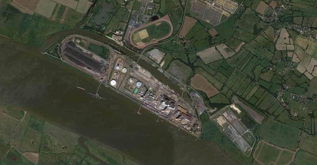 La centrale de Cordemais, en Loire Atlantique, est l'une des dernières centrales à charbon en activité en France. © Google Maps