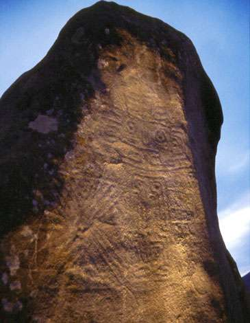 Figure 21 : pierre dressée gravée (province de Loja, Équateur). © D. González, reproduction et utilisation interdites