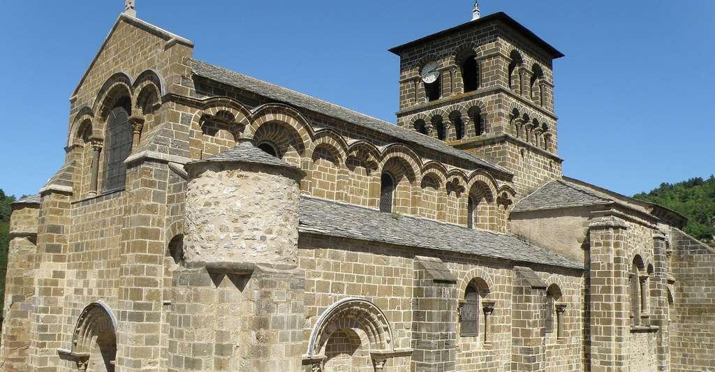 Chamalières-sur-Loire, dép. Haute-Loire, France (Auvergne). Église prieurale romane Saint-Gilles, XIe et XIIe siècles. © Torsade de Pointes, Wikipedia, DP