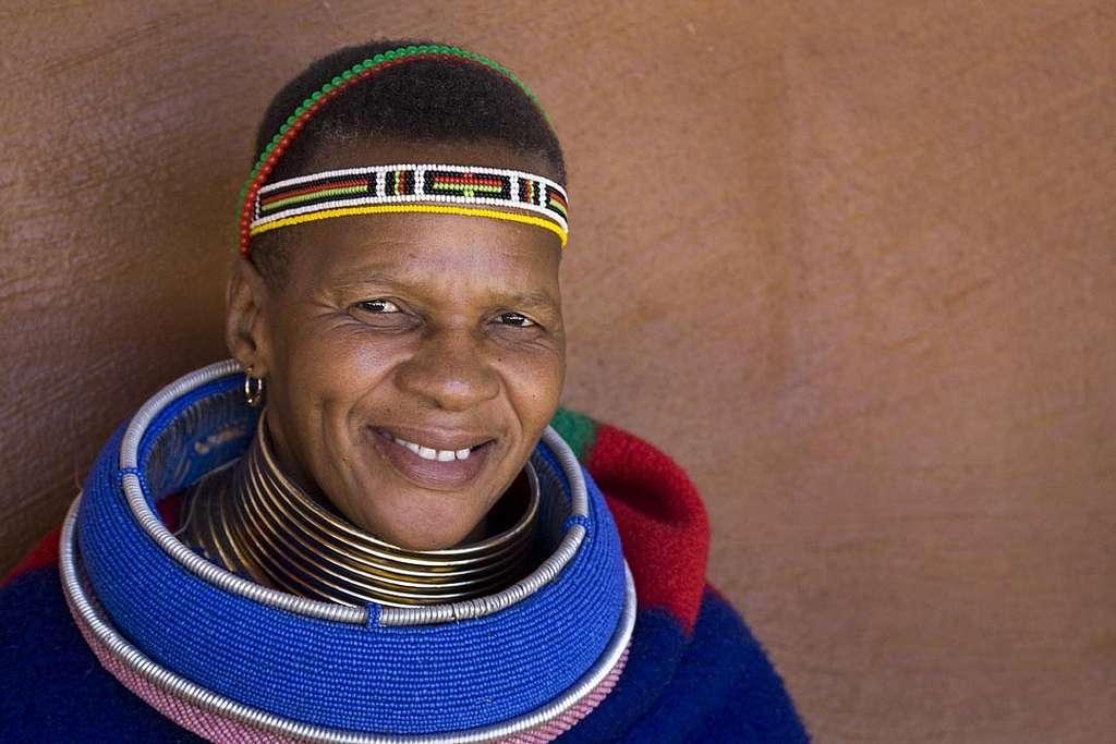 Les Ndébélés du Transvaal oriental, en Afrique