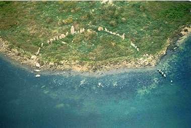 Figure 5 : Cercle de menhirs d'Er Lannic, golfe du Morbihan.