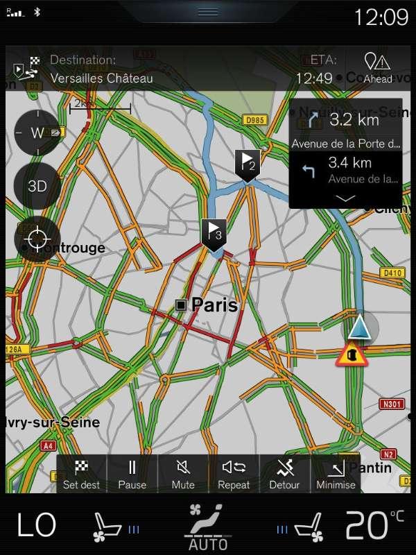 Inrix et Volvo Cars s'associent pour proposer des infos sur le trafic en temps réel © PRNewsFoto, Inrix