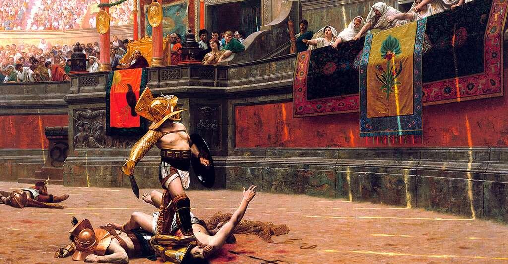 Néron était un empereur populaire, notamment parce qu'il aimait les jeux. Ici, le tableau Pollice Verso, peint par Jean-Léon Gérôme en 1872. © Phxart.org, DP