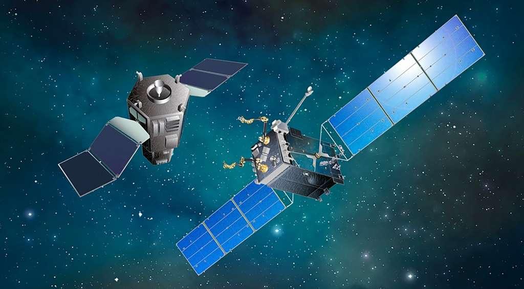 Vue d'artiste d'un projet de satellite de maintenance en orbite. © Space Systems/Loral