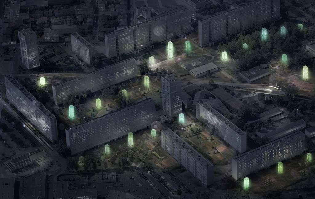 Des mini-fermes vues de nuit