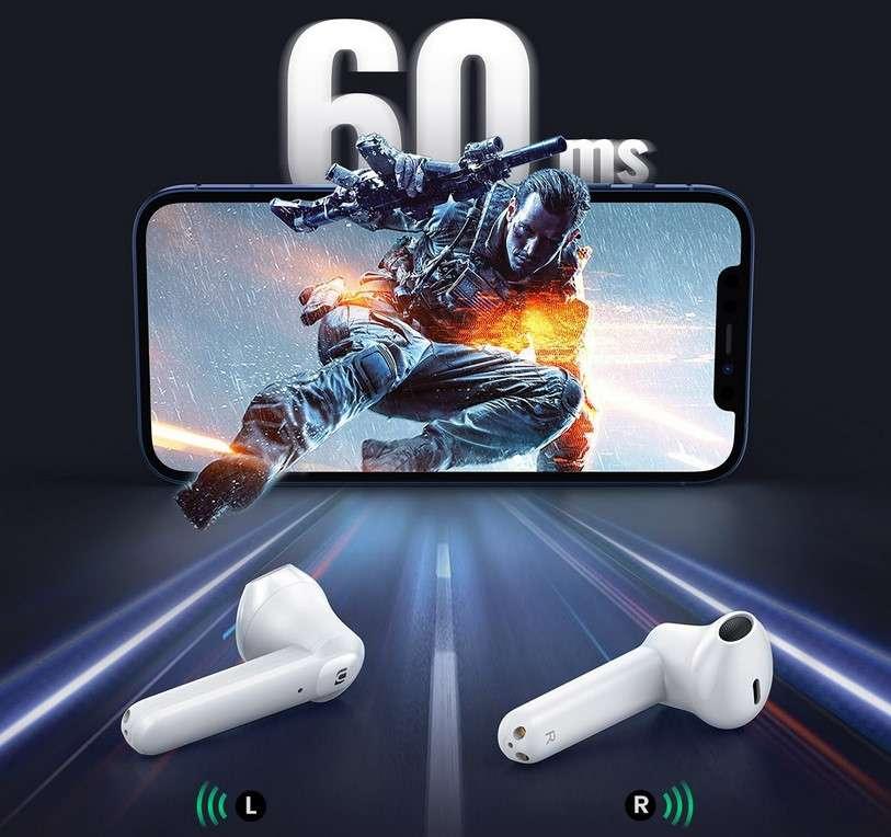 Les nouveaux écouteurs HiTune T2 du constructeur UGREEN offrent un temps de latence ultra-faible de 60 ms, améliorant l'expérience dans les jeux et les vidéos avec une synchronisation parfaite de l'audio avec l'image. © UGREEN