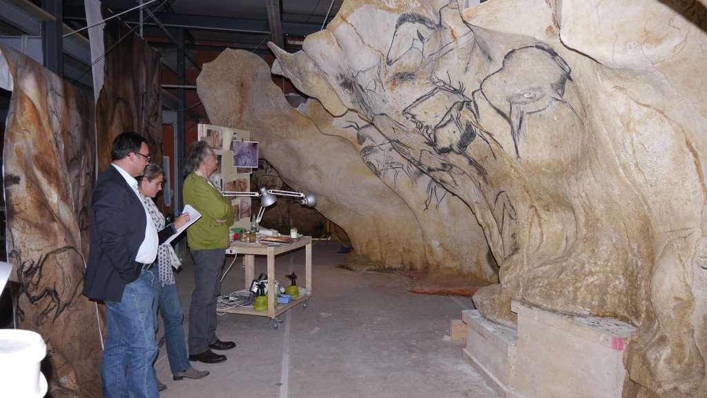Réplique de la grotte Chauvet en préparation