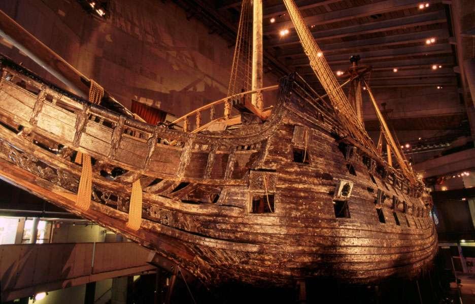 Le polyéthylène glycol a également servi aux scientifiques pour stabiliser le bois du Vasa, un navire de guerre qui a sombré en 1628 et qui est aujourd'hui l'une des attractions touristiques les plus populaires de Suède. © Nick Lott, Wikipedia, CC by-sa 2.0
