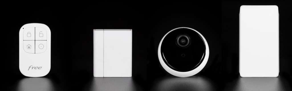 La Freebox devient une alarme maison avec une caméra et un détecteur de mouvements. © Free