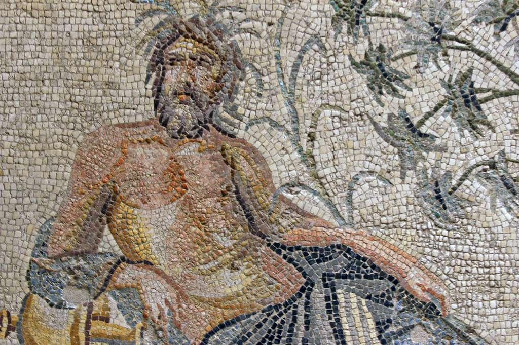 Mosaïque de Zeugma, probablement en rapport avec le bain. © Dossema, Wikimedia commons, CC 4.0