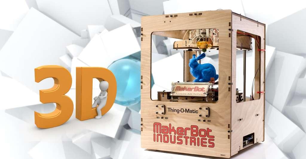 L'impression 3D fera-t-elle partie de notre quotidien ? Certains y croient et y travaillent. © Makerbot Industries, CC By 2.0, Peggy_Marco CC0, Domaine public