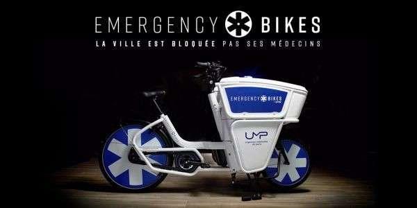Ce vélo d'urgence se présente comme une nouvelle solution de mobilité pour les Urgences médicales de Paris. © Courtesy of Wunderman Thompson Paris, Emergency Bikes
