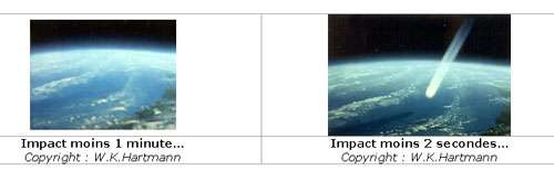 Impact d'astéroïde. © W.K Hartmann