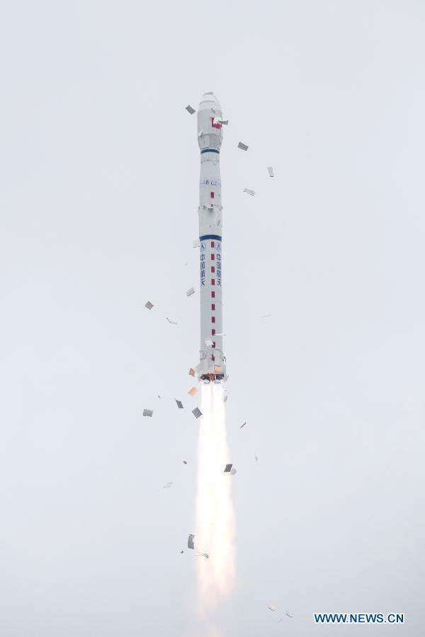 Lancement du satellite d'observation de la Terre Yaogan 28, vraisemblablement utilisé à des fins militaires, avec une Longue Marche-4B (novembre 2015). © News.cn