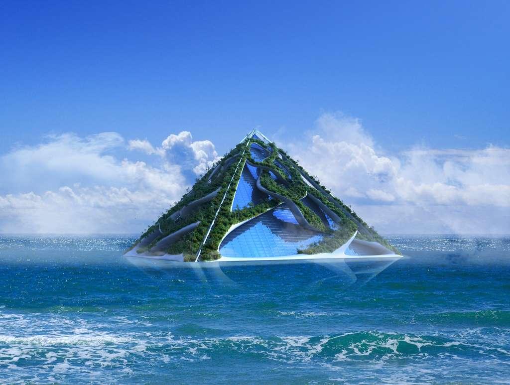 Vox est une île-navire. Capable de survivre sur n'importe quel type de planète aux atmosphères toxiques où aux climats arides. C'est un havre pour une humanité devenue nomade. © 3000ad, Adobe Stock