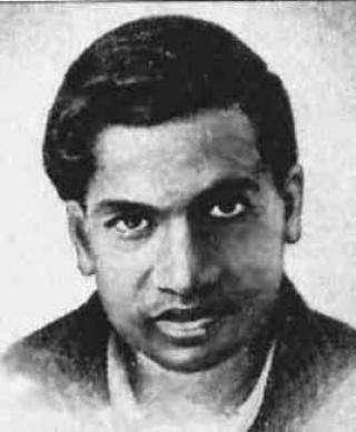 Srinivasa Ramanujan, mathématicien indien du XXe siècle. © DR