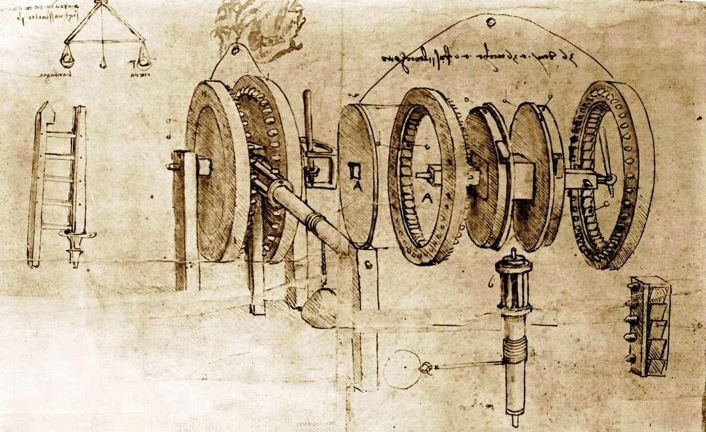 Grand admirateur d'Archimède et des mécaniciens grecs, Léonard de Vinci tentait, comme certains de ses contemporains moins connus que lui, de construire des machines ingénieuses, augmentant les possibilités d'action de l'Homme. Il était aussi un précurseur de la physique expérimentale d'un Galilée. © Everett Historical, Shutterstock