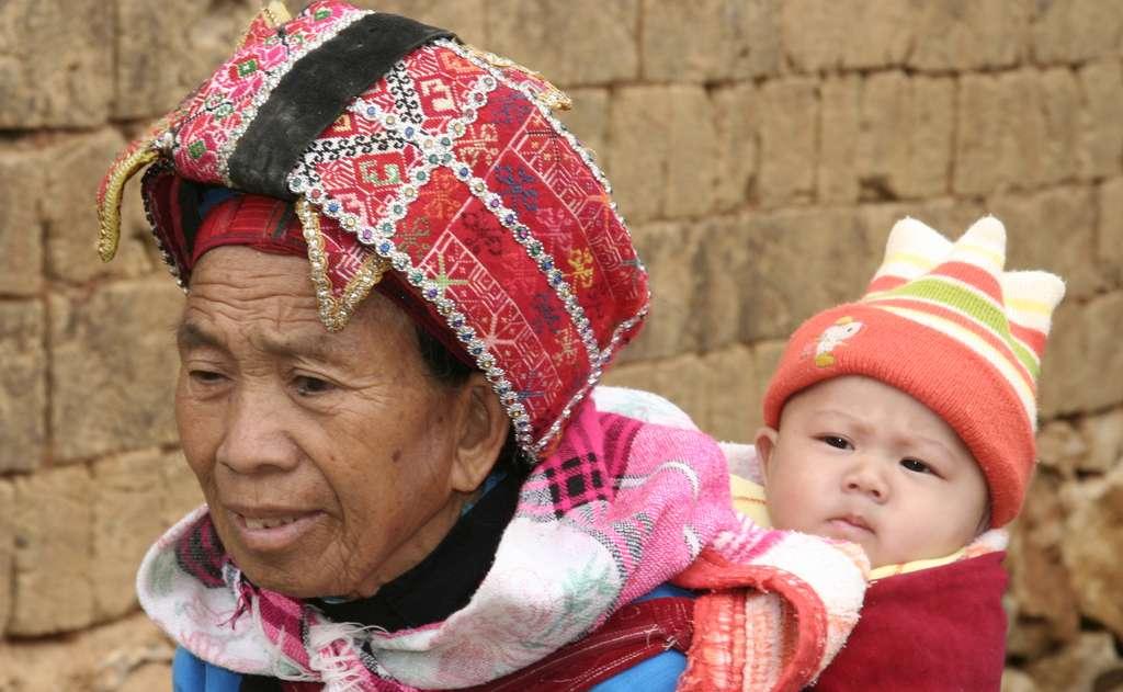 Femme Hmong dans la province du Yunnan