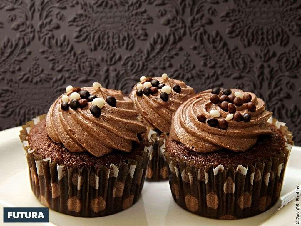 Muffins au chocolat et mousse au praliné