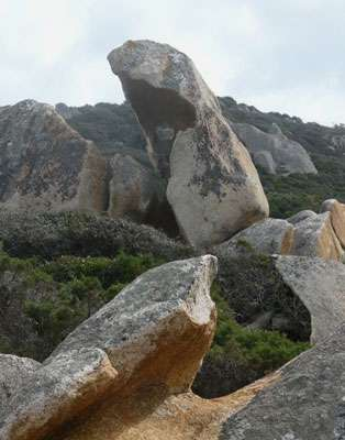 Ce taffoni de granite est situé en Corse. © Campomoro-Senetosa, Corse, France GNU, CC DP