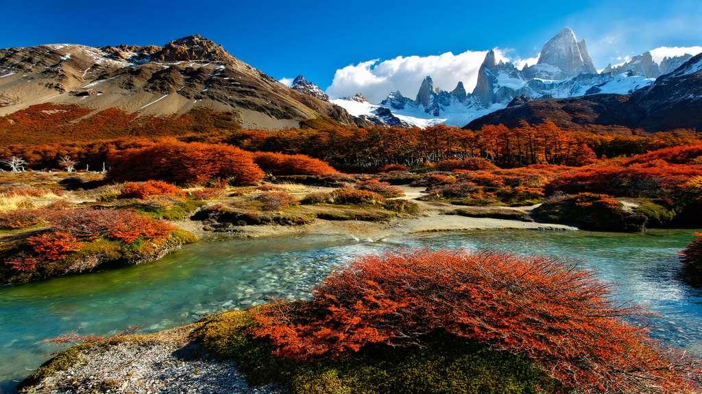 Patagonie : l'étonnant Chorrillo river dans la Fitz Roy Valley